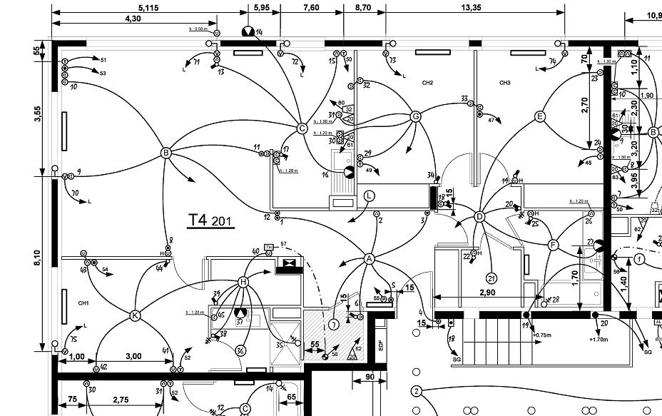 Exemple de Plans - JL EPE Etude et Préfabrication Electrique Exemple de Plans